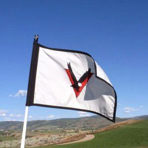 Custom printed golf flags